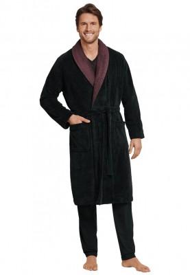 Heren kamerbad jas black...