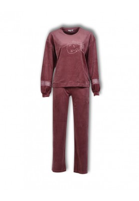 Dames pyjama bordeaux...
