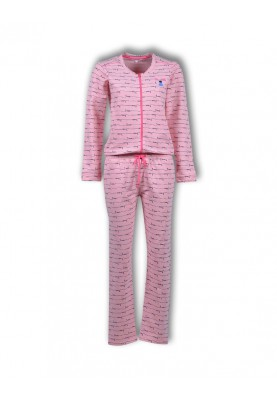 Dames onesie roze love...