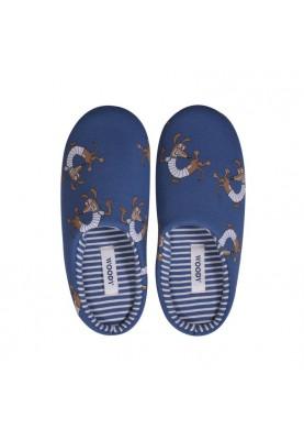 Pantoffels marineblauw met...