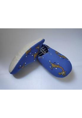 Pantoffels koningsblauw met...