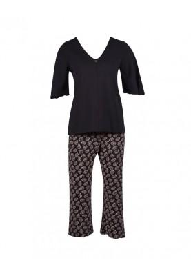 Dames pyjama antraciet...
