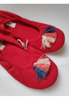 Pantoffels felrood 2011SLOT436