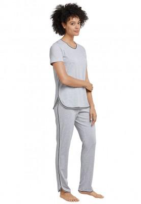 Dames pyjama grey melange...