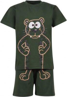 Unisex pyjama donkergroen...