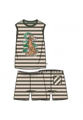 Heren pyjama groengebr wit...