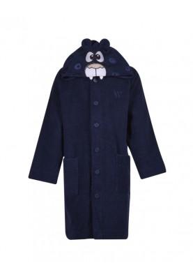 Unisex badjas donkerblauw...