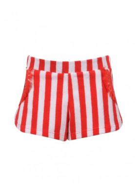 Meisjes spons short roodwit...