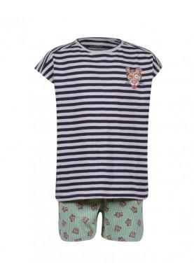 Meisjes pyjama blauwwit...