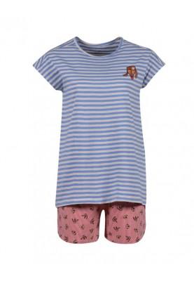 Dames pyjama lichtblauw wit...