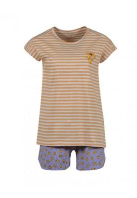 Dames pyjama geelwit...