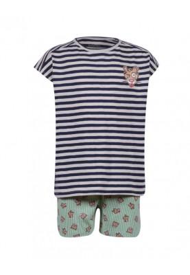 Dames pyjama blauwwit...