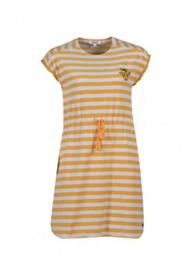 Dames jurk geelwit...
