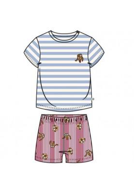 Baby pyjama lichtblauw wit...