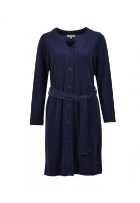 Dames badjas donkerblauw...