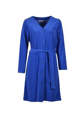 Dames badjas koningsblauw...