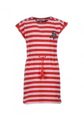 Meisjes jurk roodwit...