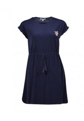 Dames jurk donkerblauw...