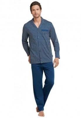 Heren pyjama lang dark blue...