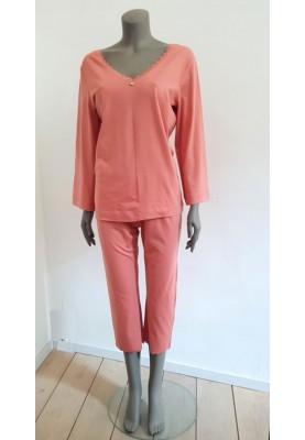 Dames pyjama abrikoosoranje...