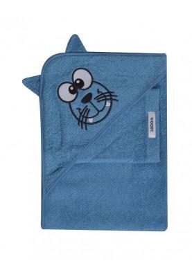 Baby Badcape 75x75cm blauw...