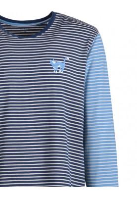 Heren pyjama blauwgebroken...