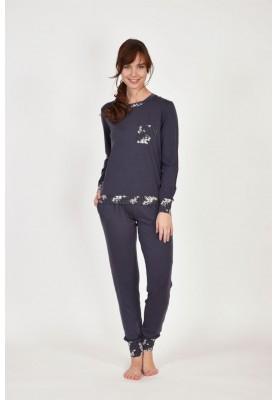 Dames pyjama donkergrijs...