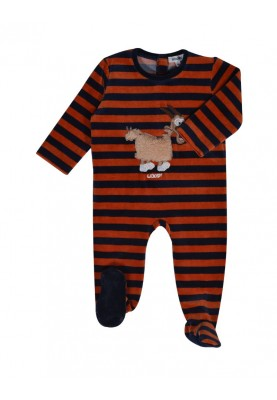 Baby romper donkerblroest...