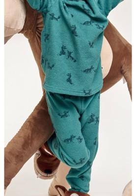 Jongens pyjama groen met...