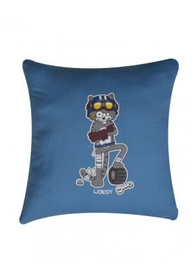 kussensloop kat blauw...