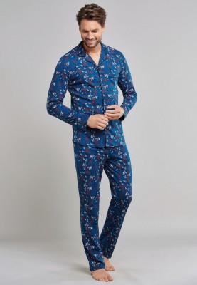 Heren pyjama doorknoop...