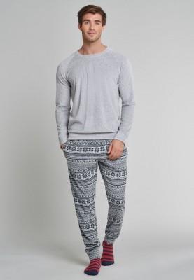 Heren kerst pyjama grijs...