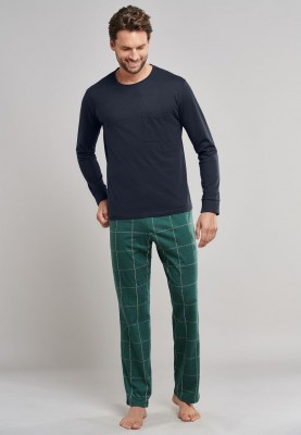 Heren pyjama dark green...