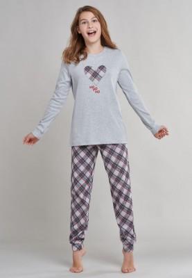 Meisjes kerst pyjama grey...
