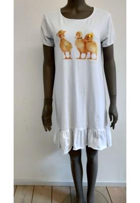 Dames dress ducks wit Ducks...
