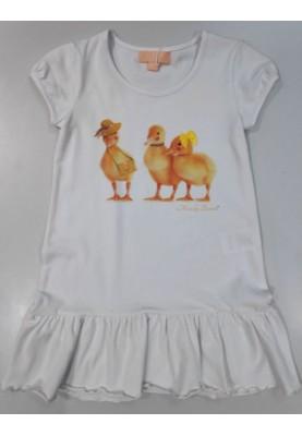 Meisjes dress ducks wit...