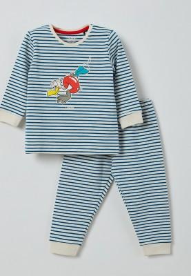 Unisex pyjama blauwwit...