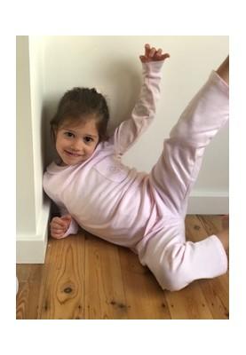 Meisjes baby pyjama rose La...