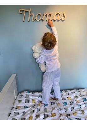 Jongens pyjama wit blauw...