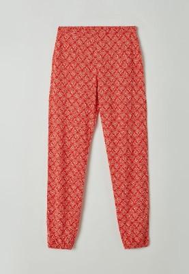 Dames pyjama rood stripjes...