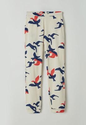 Dames pyjama blauw vogels...