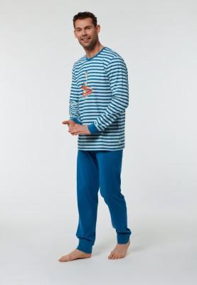 Heren pyjama blauw rood...