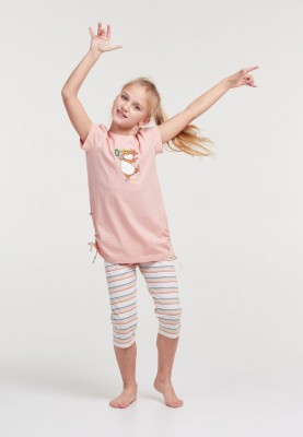Meisjes pyjama lichtroze...