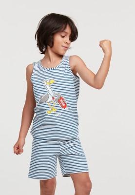 Jongens pyjama blauw wit...