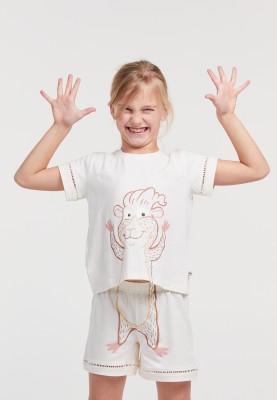 Meisjes pyjama gebroken wit...