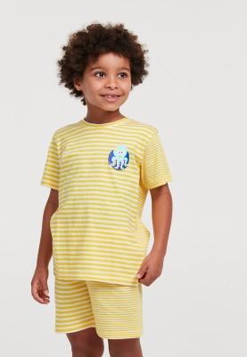 Jongens pyjama geel wit...