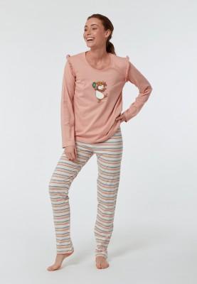 Dames pyjama lichtroze...