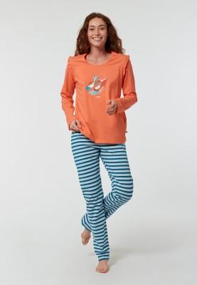 Dames pyjama koraalroze...