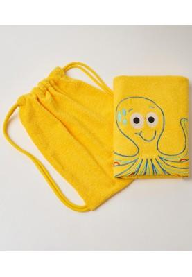 Handdoek 70X140cm geel...