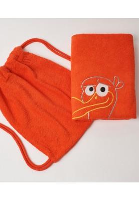 Handdoek 70X140cm rood...